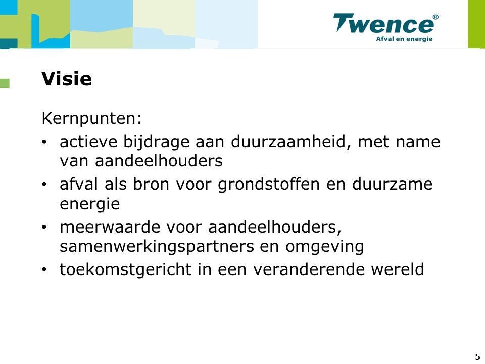6 Gemeentelijke omgevingsfactoren Aspecten waarmee met (nieuwe) ontwikkelingen rekening wordt gehouden: 1.Brief Staatssecretaris Atsma: 'Meerwaarde uit afval' 2.Ontwikkeling regionale economie en werkgelegenheid 3.Optimale inzet beschikbare kennis in Twente 4.Duurzaamheidsambities gemeenten 5.Agenda van Twente / Twentse Duurzaamheidsagenda