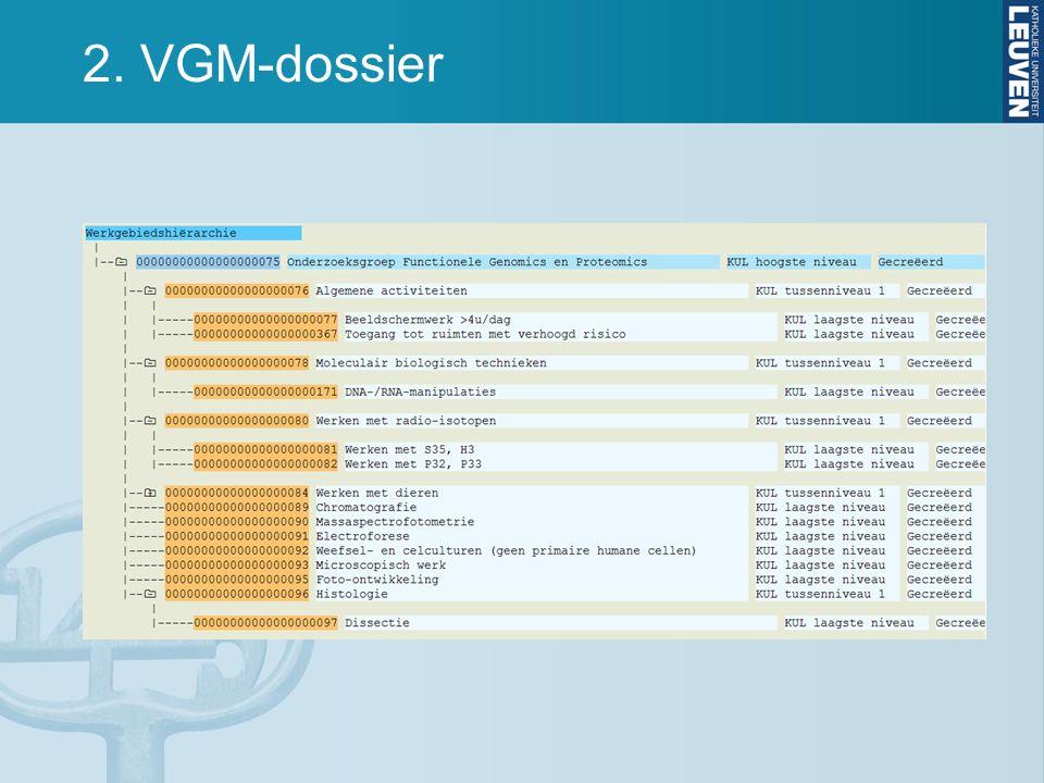 2. VGM-dossier