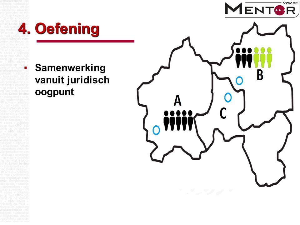 4. Oefening  Samenwerking vanuit juridisch oogpunt