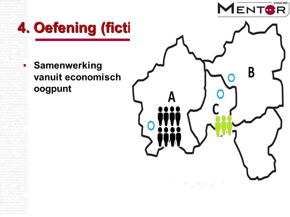 4. Oefening (fictief)  Samenwerking vanuit economisch oogpunt