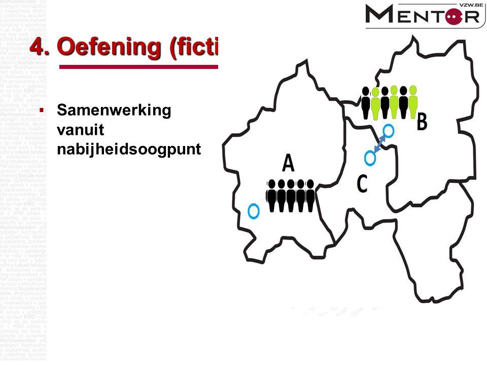 4. Oefening (fictief)  Samenwerking vanuit nabijheidsoogpunt