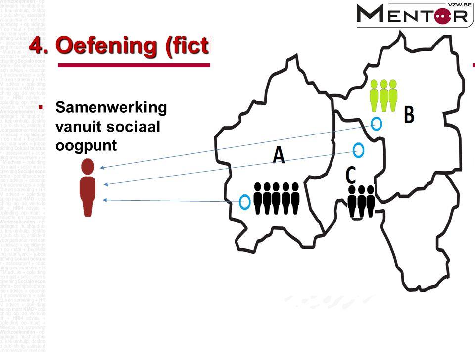 4. Oefening (fictief)  Samenwerking vanuit sociaal oogpunt