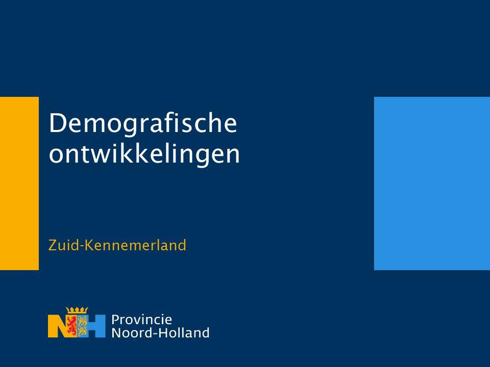 Demografische ontwikkelingen Zuid-Kennemerland