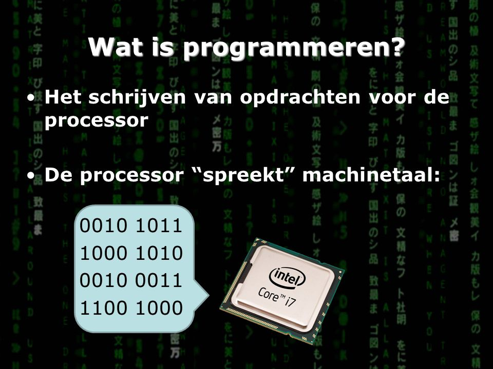 Wat is programmeren.