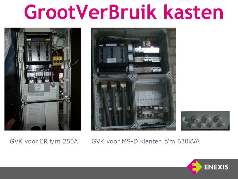 GrootVerBruik kasten GVK voor ER t/m 250A GVK voor MS-D klanten t/m 630kVA