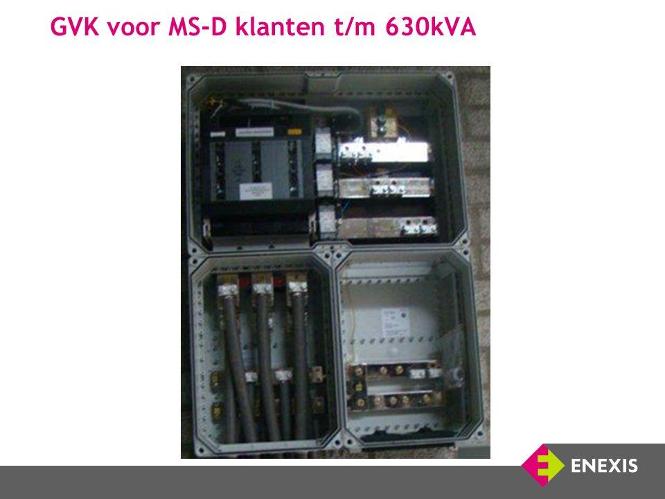 GVK voor MS-D klanten t/m 630kVA