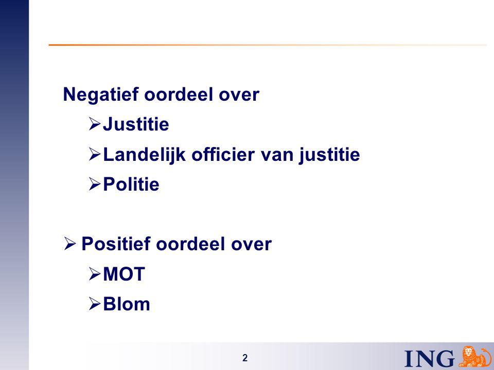 2 Negatief oordeel over  Justitie  Landelijk officier van justitie  Politie  Positief oordeel over  MOT  Blom