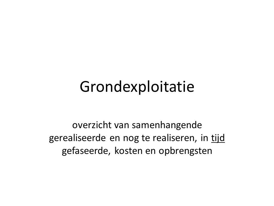 Grondexploitatie = ONDERNEMEN