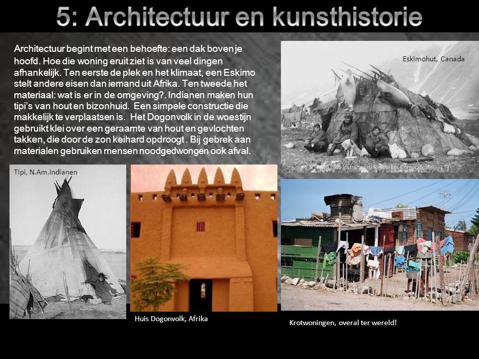 Architectuur begint met een behoefte: een dak boven je hoofd.