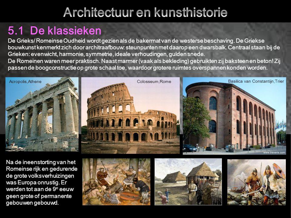 5.1 De klassieken De Grieks/ Romeinse Oudheid wordt gezien als de bakermat van de westerse beschaving.