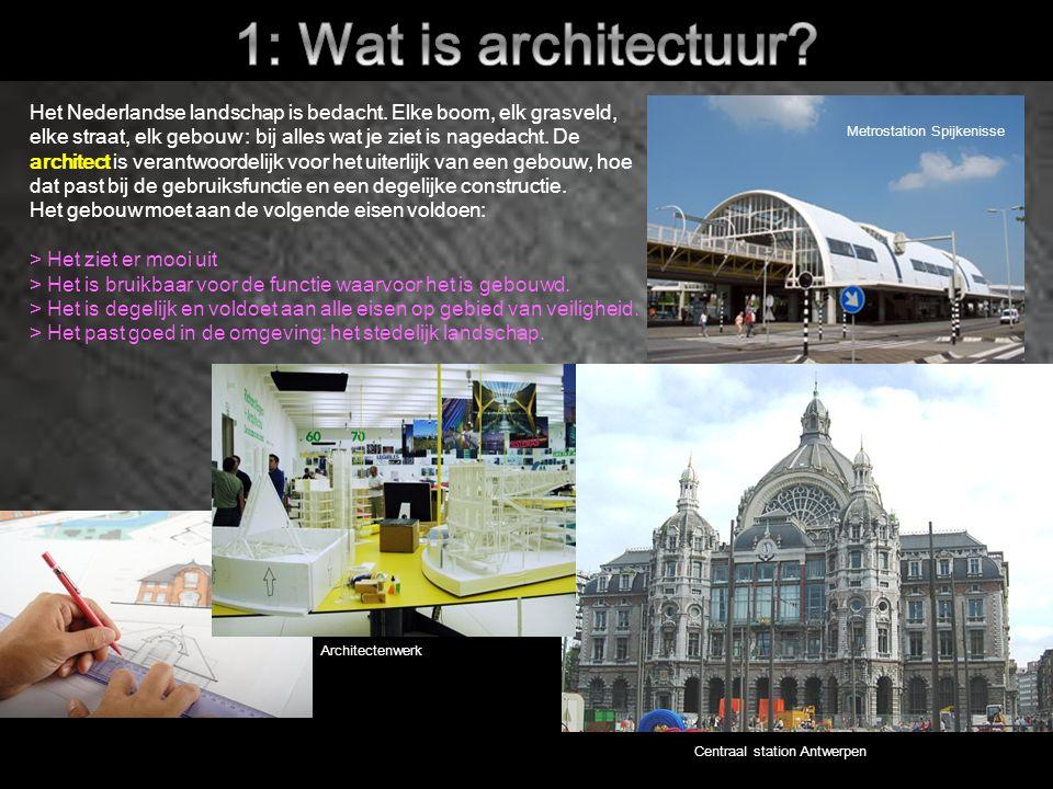 4.2 De architect Wie zijn er allemaal betrokken bij de totstandkoming van het gebouw.