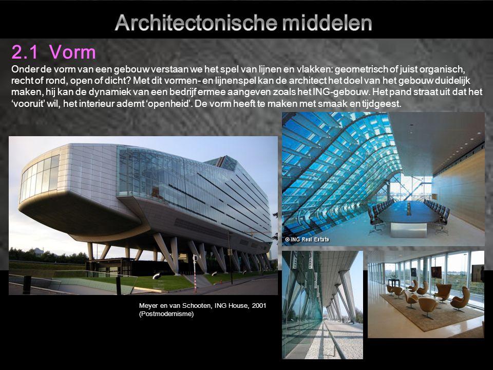 Vorm Ontwerpen in geometrische vormen konden door de uitvinding van nieuwe technieken en materialen worden uitgebuit.