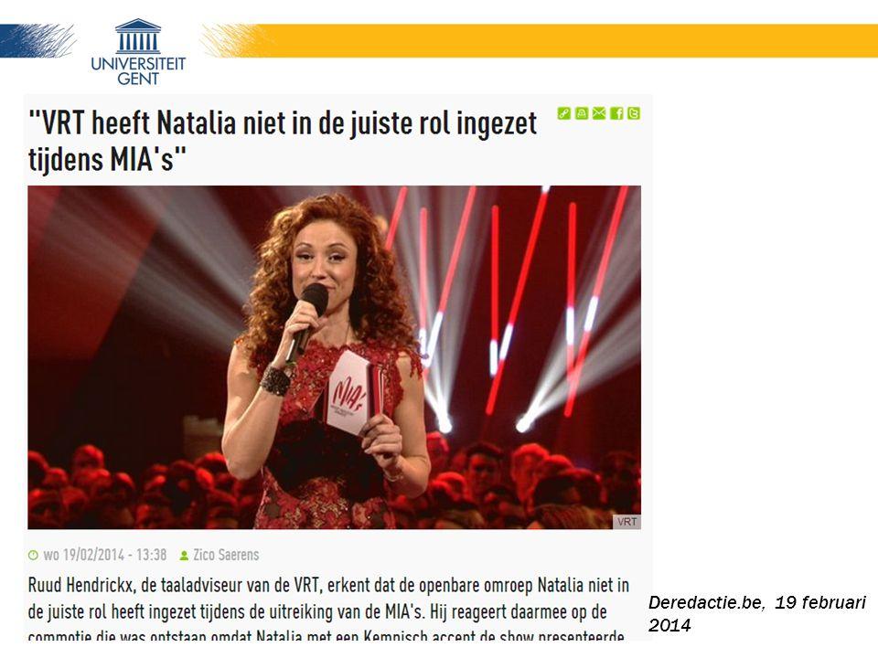 Deredactie.be, 19 februari 2014