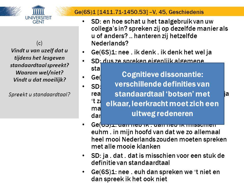 SD: en hoe schat u het taalgebruik van uw collega's in.
