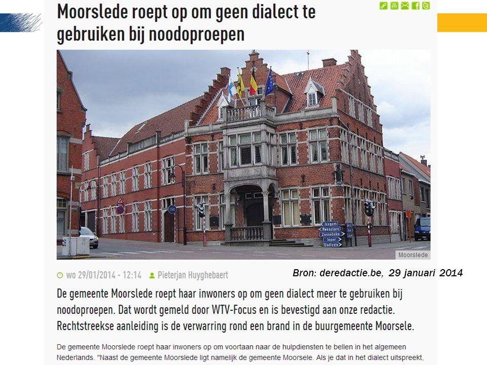 Bron: deredactie.be, 29 januari 2014