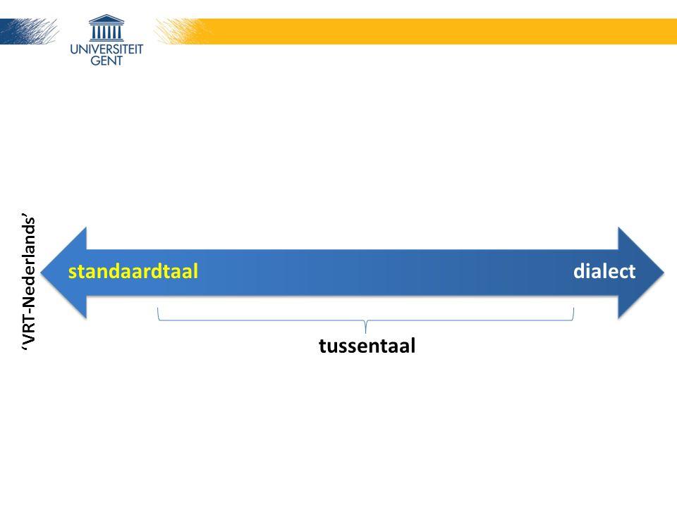 standaardtaaldialect tussentaal 'VRT-Nederlands'