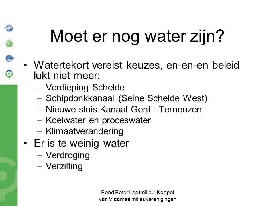 Bond Beter Leefmilieu, Koepel van Vlaamse milieuverenigingen Moet er nog water zijn? Watertekort vereist keuzes, en-en-en beleid lukt niet meer: –Verd