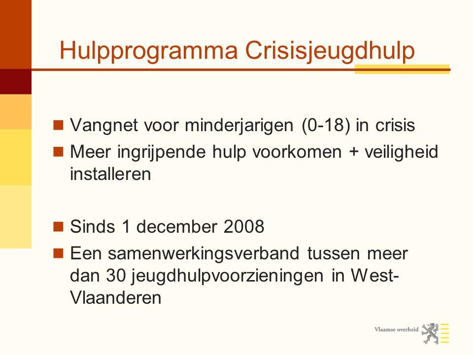 Een aantal cijfers… Sinds de start van het crisisnetwerk op 1 december 2008 kenden we een constante toename van het aantal aanmeldingen.