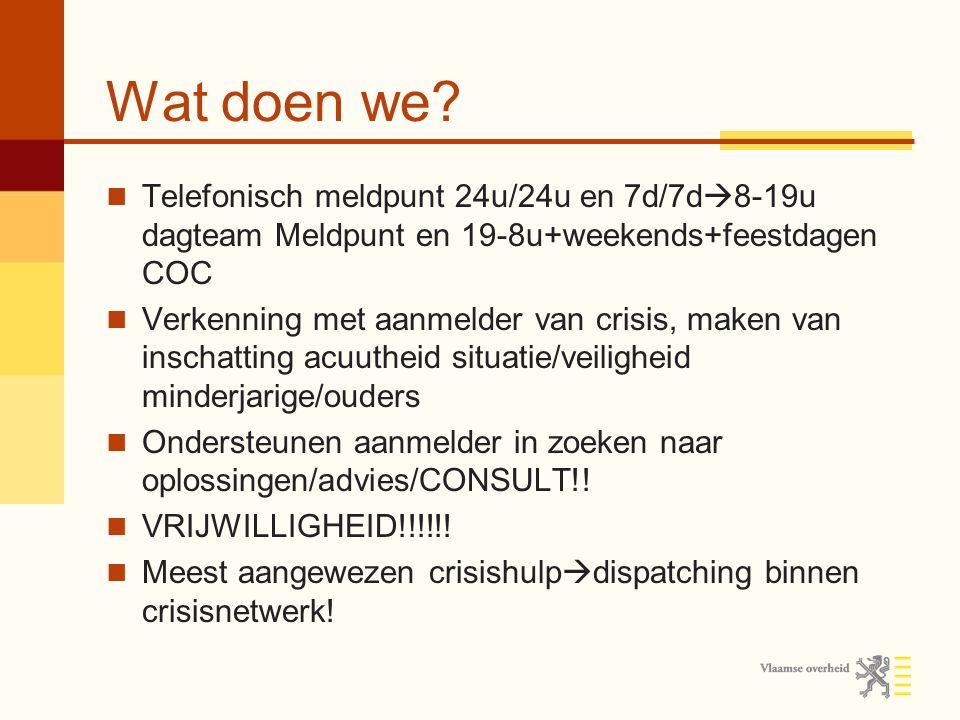 1 maart 2014 Sinds 1 maart 2014 ingrijpende veranderingen in het jeugdhulpverleningslandschap Cliënt kan UITZONDERLIJK zelf aanmelden.