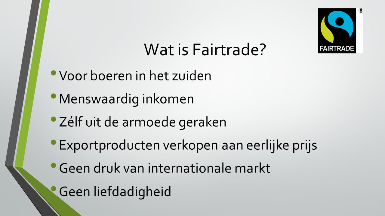 Wat is Fairtrade.