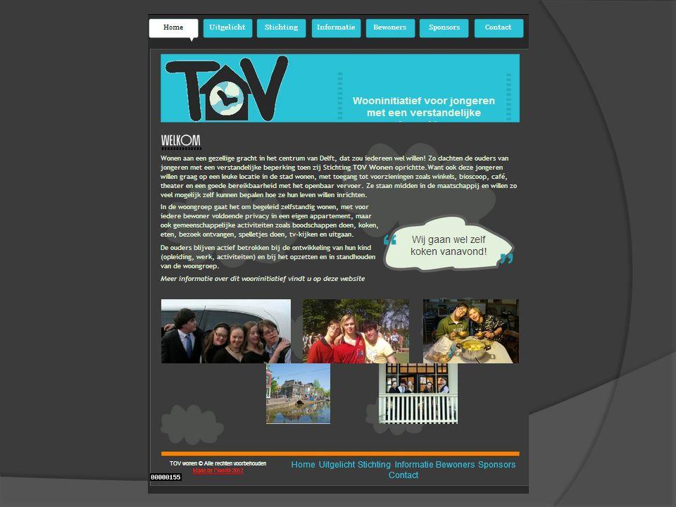 De Stichting TOV  Bestuur - Monique Kromhout voorzitter - Evelyn Brouwer - Louis Aussen - Rudi Westerveld medewerker  Contact : mkromhout@yahoo.commkromhout@yahoo.com mobile 06 44624497  Website www.tovwonen.nlwww.tovwonen.nl