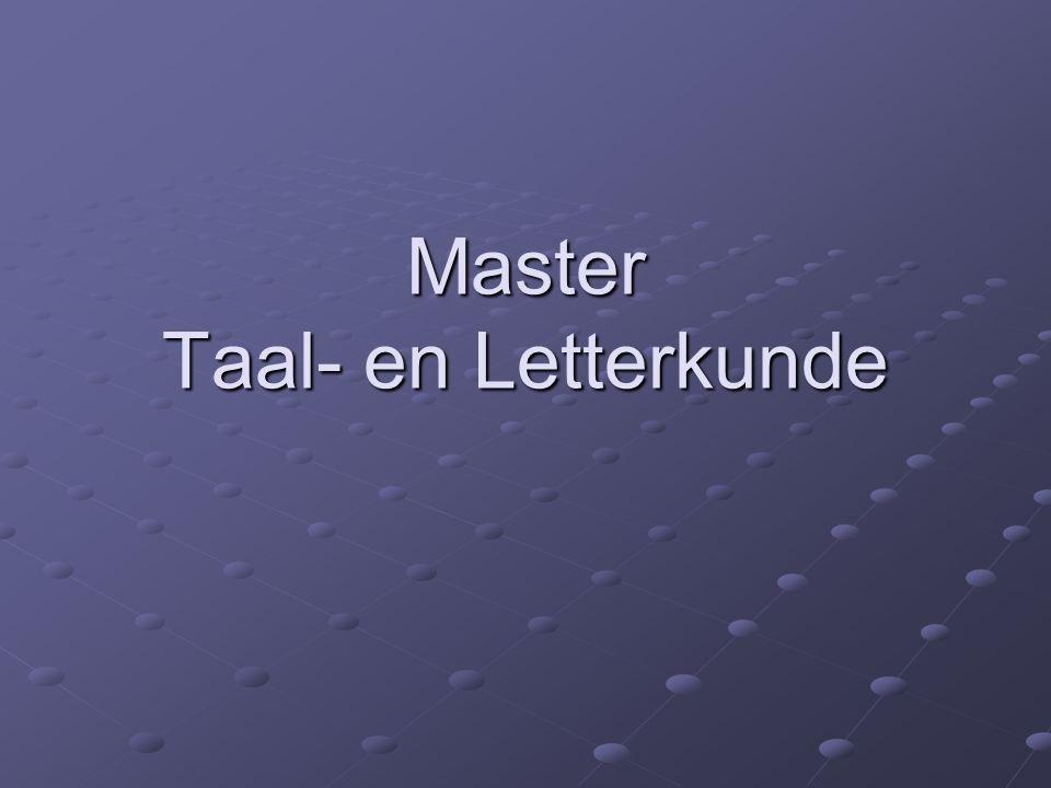 Master Taal- en Letterkunde