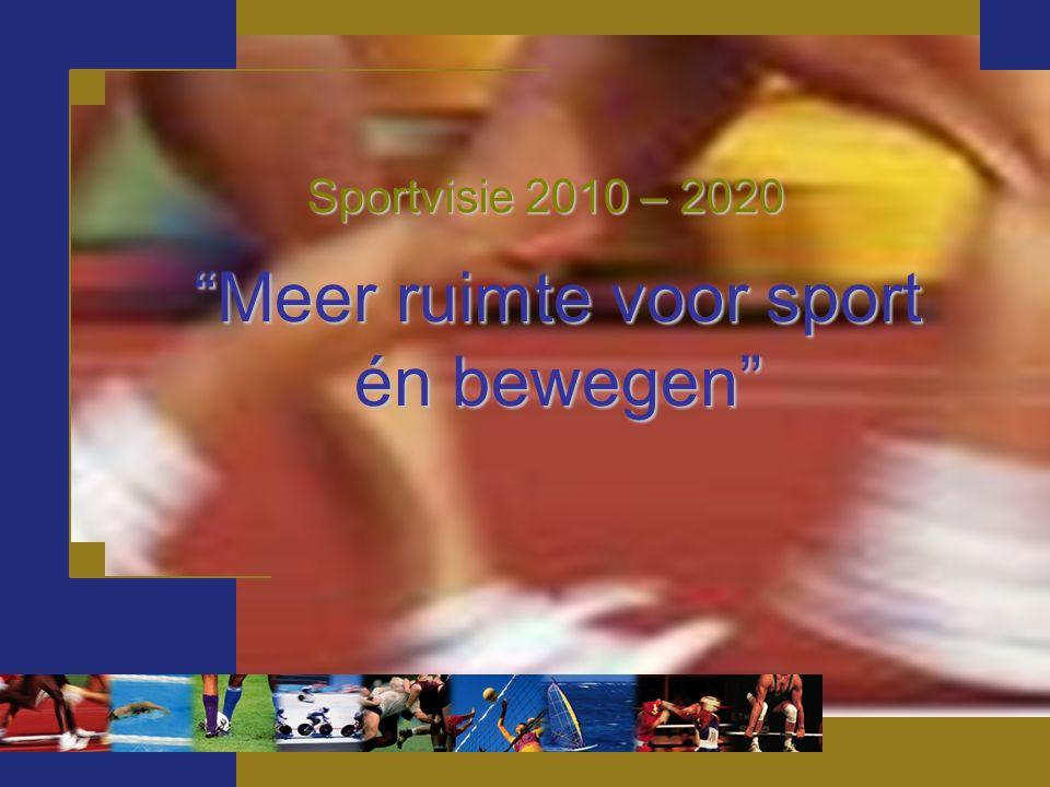 Meer ruimte voor sport én bewegen Sportvisie 2010 – 2020