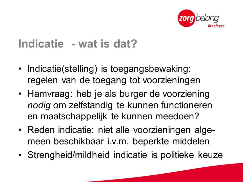 Indicatie - wat is dat.