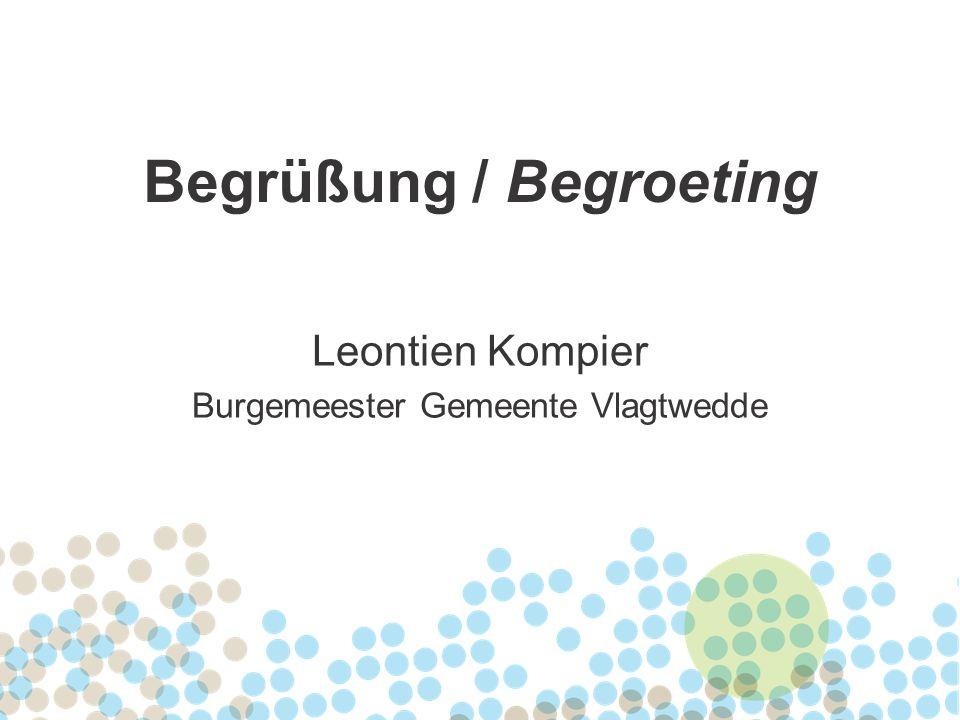 Leontien Kompier Burgemeester Gemeente Vlagtwedde Begrüßung / Begroeting
