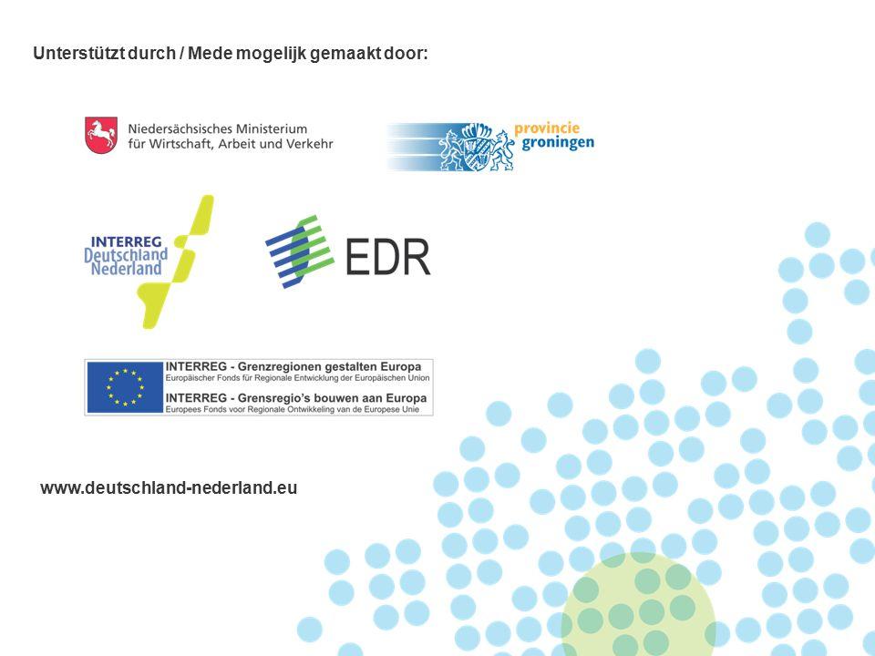 Unterstützt durch / Mede mogelijk gemaakt door: www.deutschland-nederland.eu