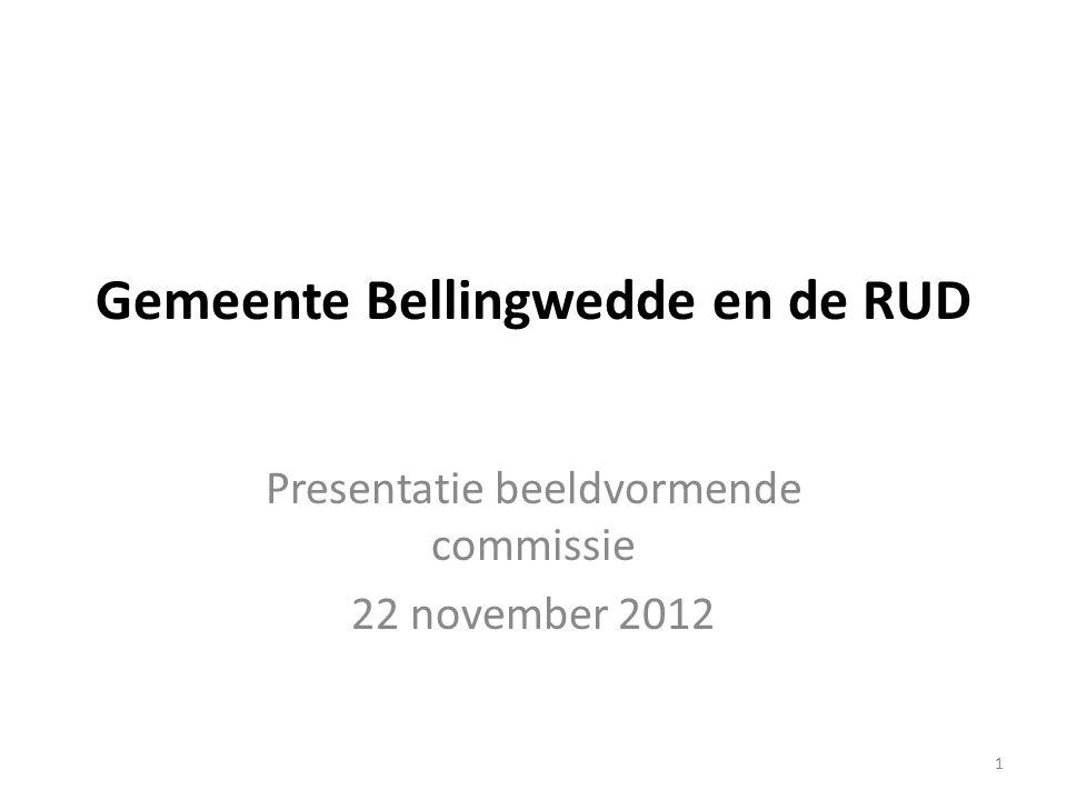 1 Gemeente Bellingwedde en de RUD Presentatie beeldvormende commissie 22 november 2012