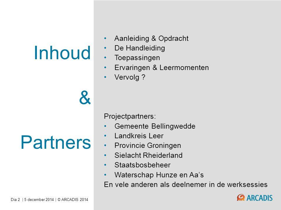 Inhoud & Partners Aanleiding & Opdracht De Handleiding Toepassingen Ervaringen & Leermomenten Vervolg .