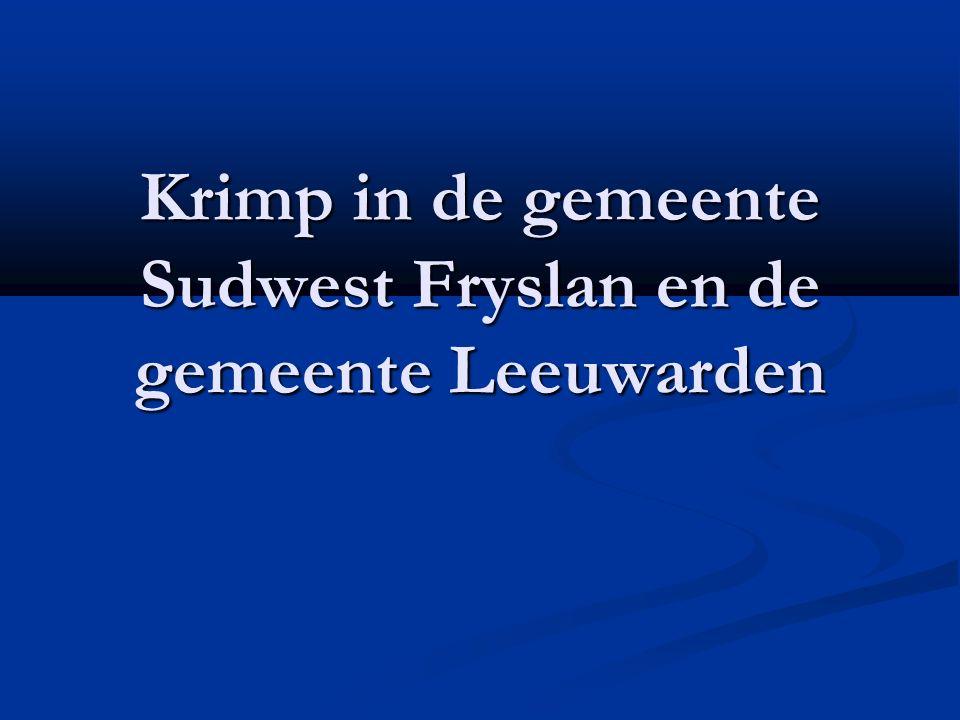 Krimp in de gemeente Sudwest Fryslan en de gemeente Leeuwarden