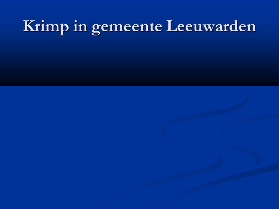 Krimp in gemeente Leeuwarden