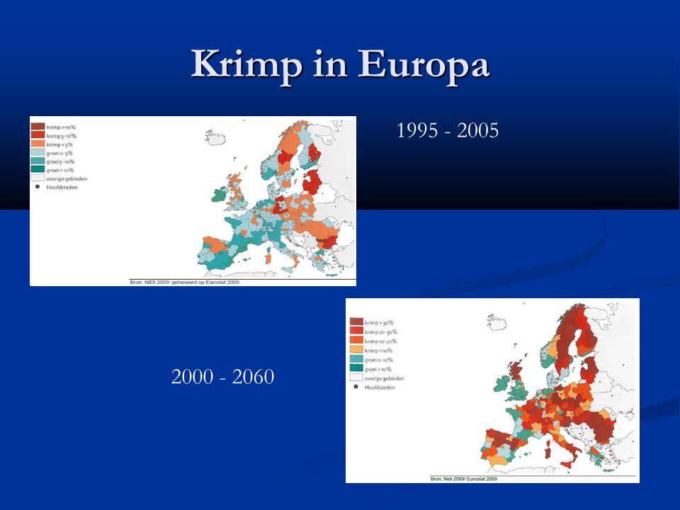 Krimp in Europa 1995 - 2005 2000 - 2060