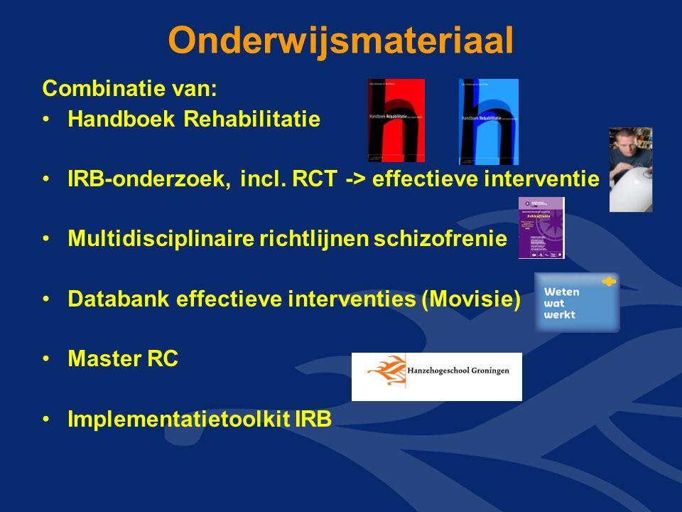 Onderwijsmateriaal Combinatie van: Handboek Rehabilitatie IRB-onderzoek, incl.