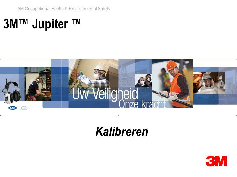 3M Occupational Health & Environmental Safety 3M™ Jupiter ™ Kalibreren
