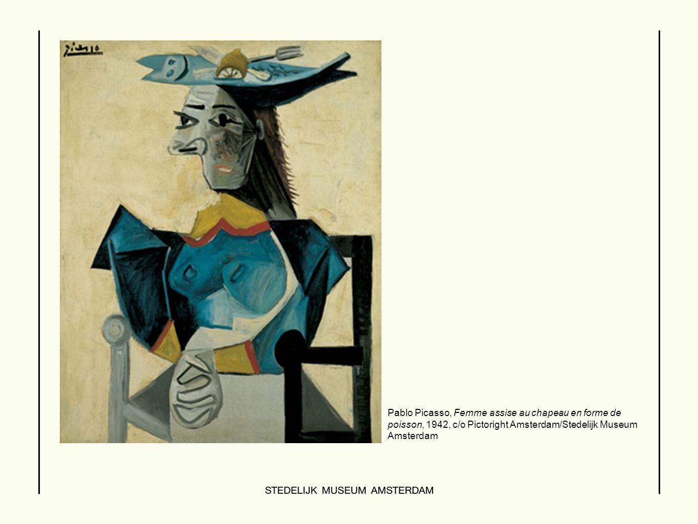 Pablo Picasso, Femme assise au chapeau en forme de poisson, 1942, c/o Pictoright Amsterdam/Stedelijk Museum Amsterdam