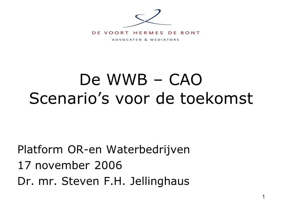 1 De WWB – CAO Scenario's voor de toekomst Platform OR-en Waterbedrijven 17 november 2006 Dr.
