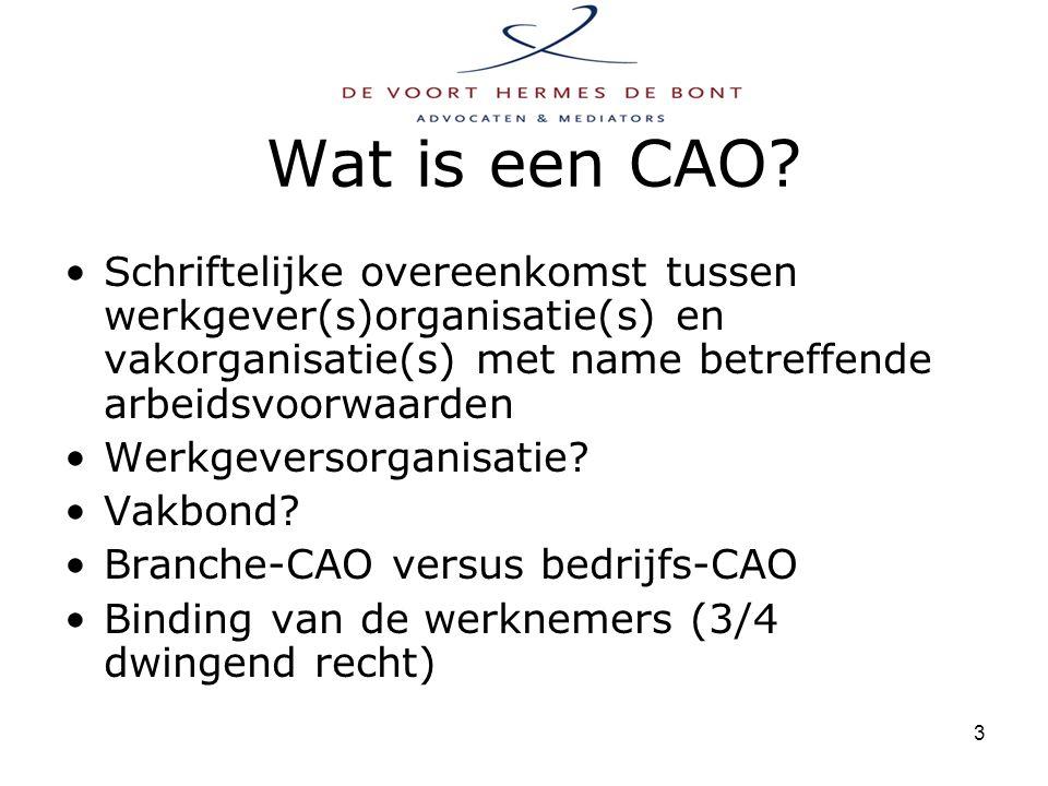 4 Wat bij afloop van een CAO.