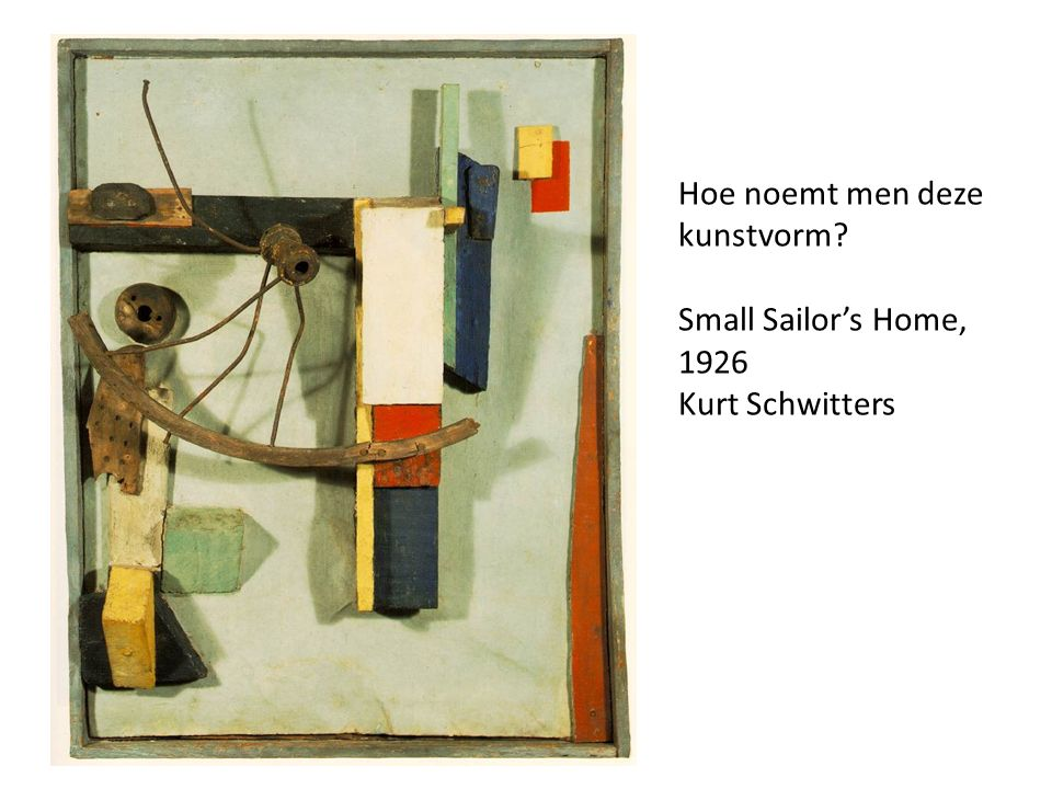 Small Sailor's Home, 1926 Kurt Schwitters