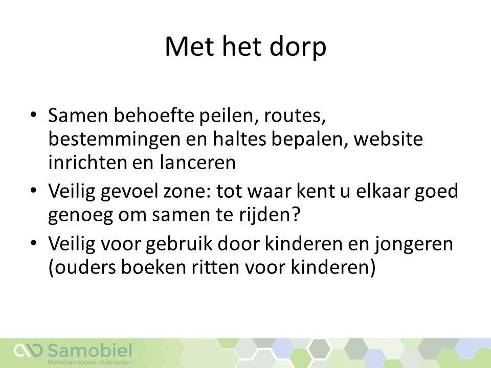 Tot slot Zijn inwoners Baambrugge op zoek naar aanvullende vervoersmogelijkheden.