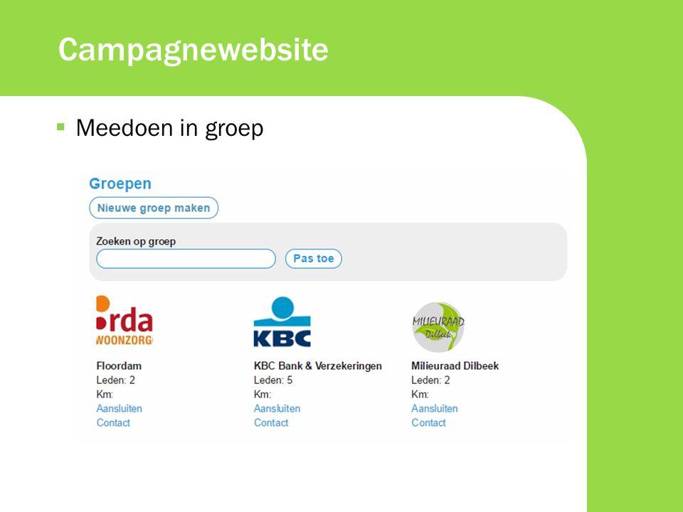  Meedoen in groep Campagnewebsite