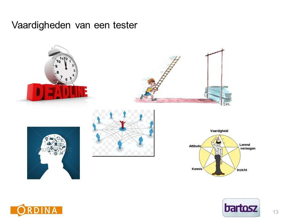 13 Vaardigheden van een tester