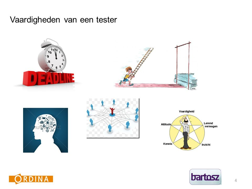 4 Vaardigheden van een tester