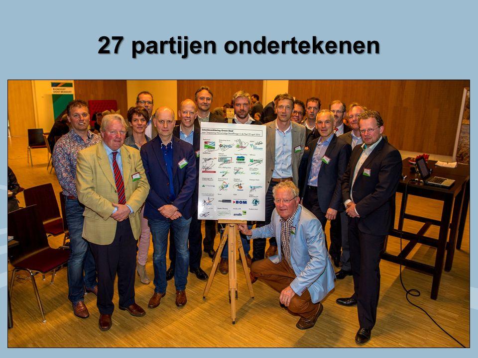 27 partijen ondertekenen
