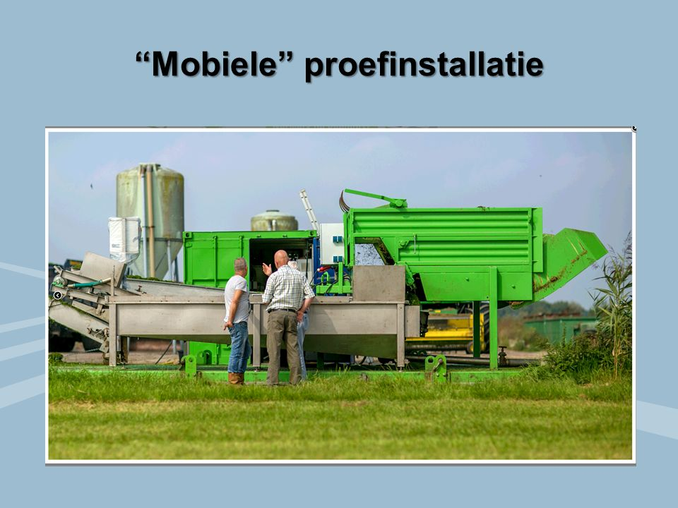 Mobiele proefinstallatie