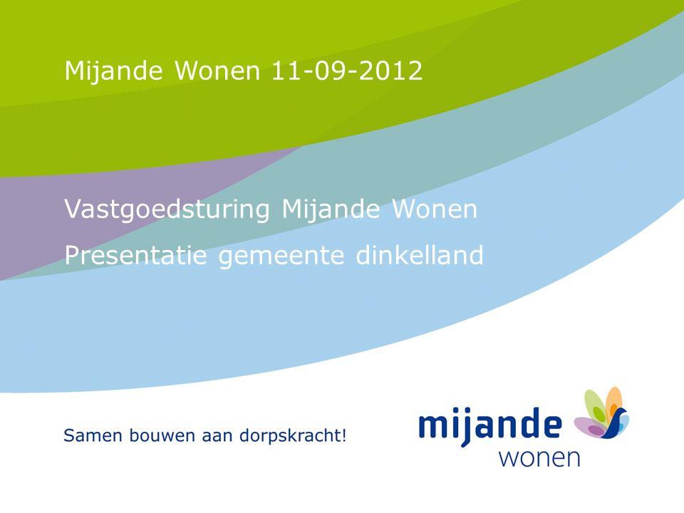 1 Mijande Wonen 11-09-2012 Vastgoedsturing Mijande Wonen Presentatie gemeente dinkelland