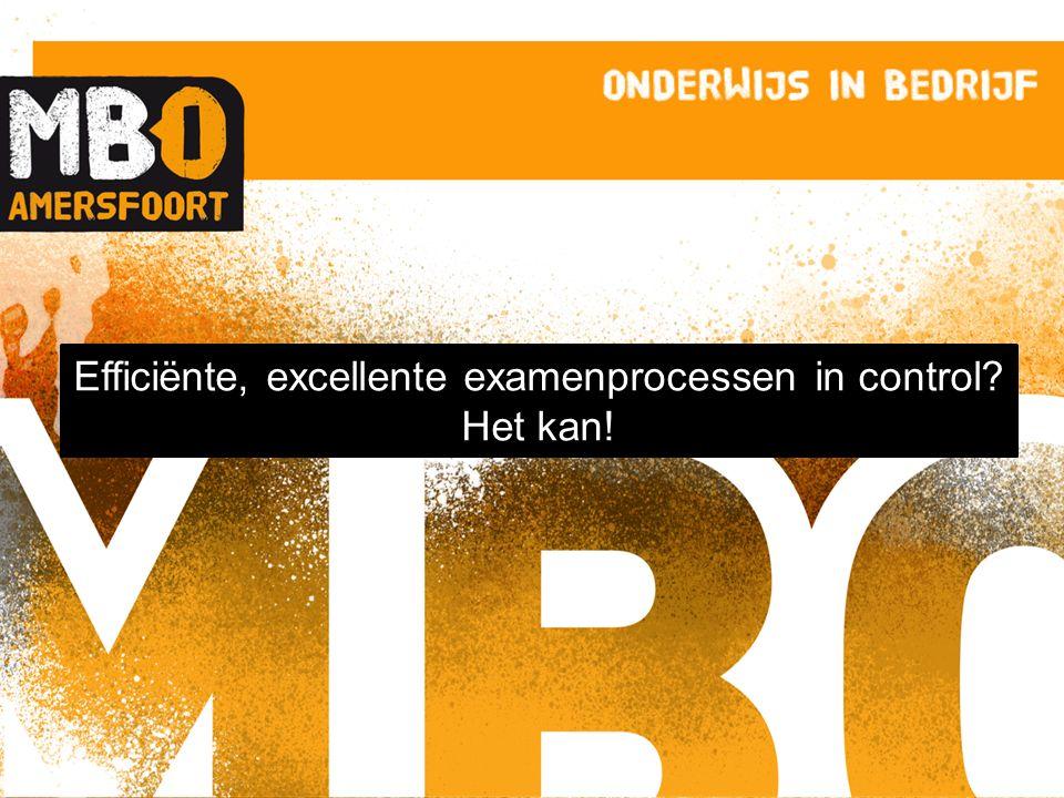 Efficiënte, excellente examenprocessen in control Het kan!