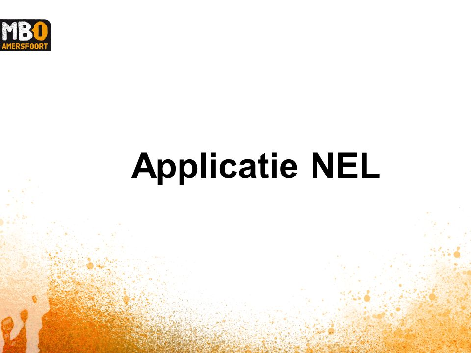 Applicatie NEL